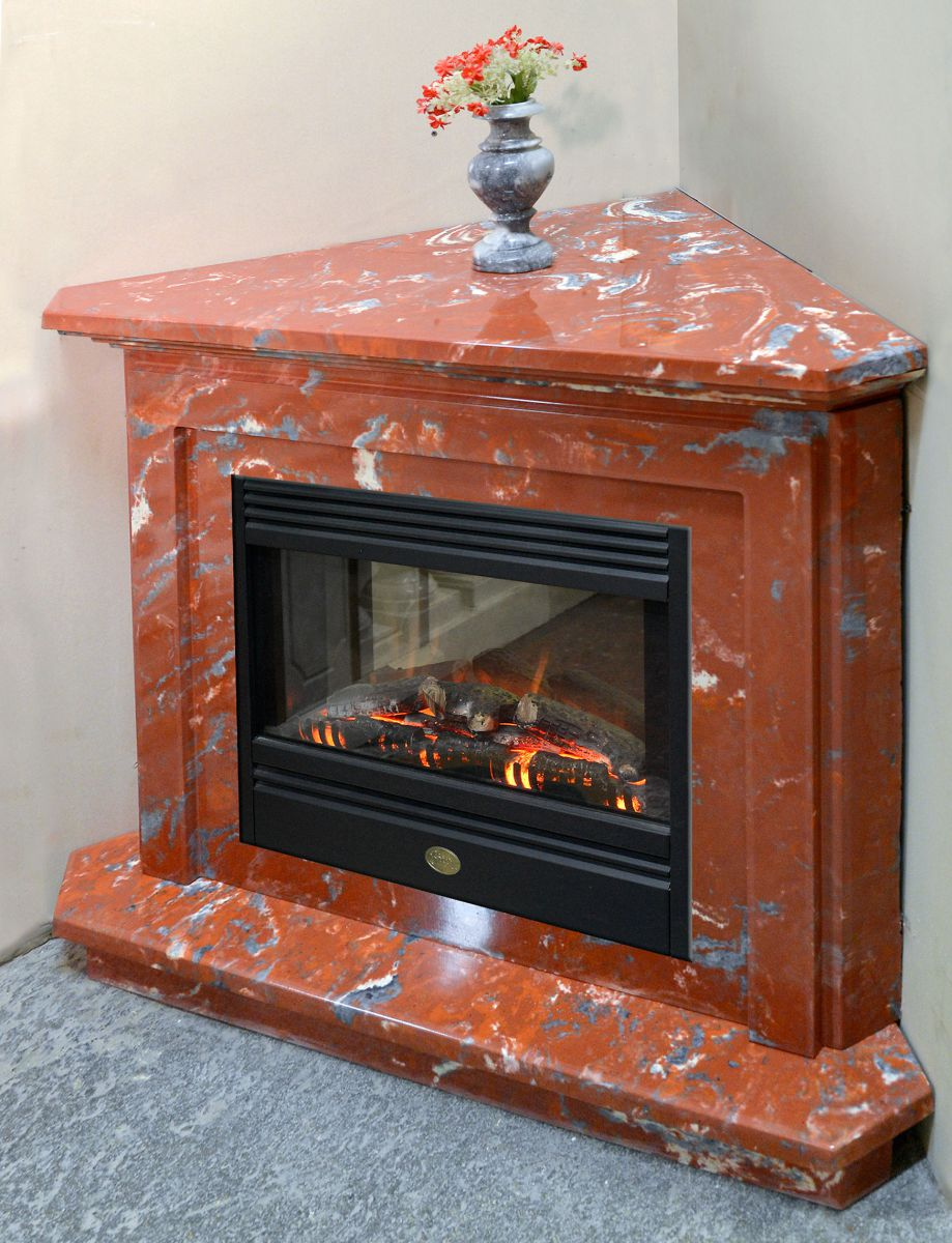 New fireplace facing for interior design